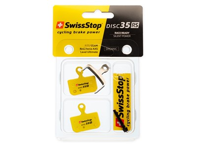 SWISSSTOP Disc brake pad Disc 35 RS SRAM Red eTap AXS (Gen. 2 'Two-Piece' caliper), Force eTap AXS, Level Ultimate, Level TLM B1 (2020+)	 Organic pad Steel plate Pack of 2 pads