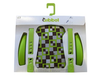 QIBBEL Child seat styling set Rear Deluxe Checked green