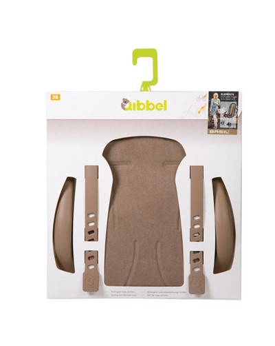 QIBBEL Child seat styling set Rear Deluxe Faded brown
