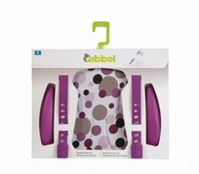 QIBBEL Child seat styling set Front Deluxe Dot purple