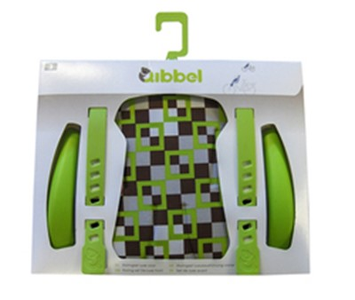 QIBBEL Child seat styling set Front Deluxe Checked green